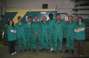 Plantilla de empleados de Talleres Unión